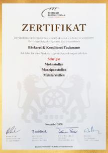 Zertifikat Stollen 11.2020